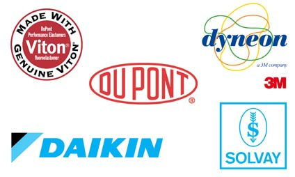 Manufactures of fluoroelastomers DuPont - Solvay - Dyneon - DaiEl