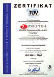 Certificate for a quality management ISO 9001