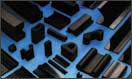 Rubber profiles made of NR, SBR, NBR, EPDM, CR, Silicone, Viton, FPM, FKM
